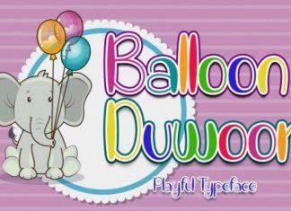 Balloon Duwoor Font