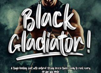 Black Gladiator Font