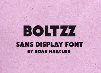 Boltzz Sans Font