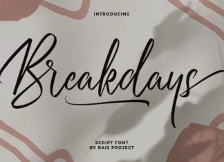 Breakdays Font