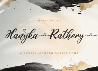 Hanyka Rathery Font
