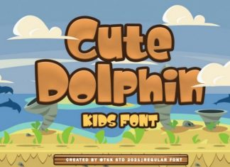 Cute Dolphin Font