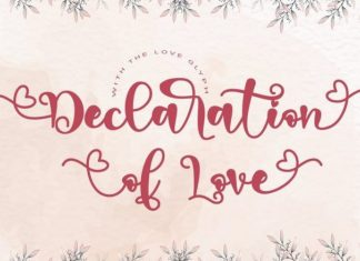Declaration of love Font