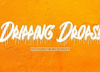 Dripping Drops Font