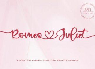 Romeo Juliet Font