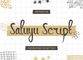 Saluyu Script Font