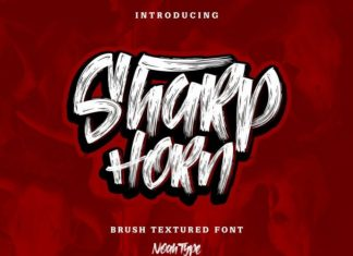 Sharp Horn Font