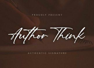 Author Think Handwritten Font