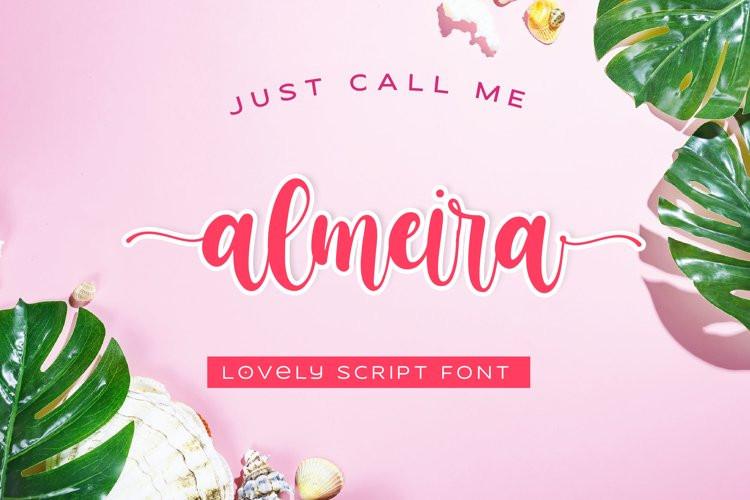 Almeira Calligraphy Font