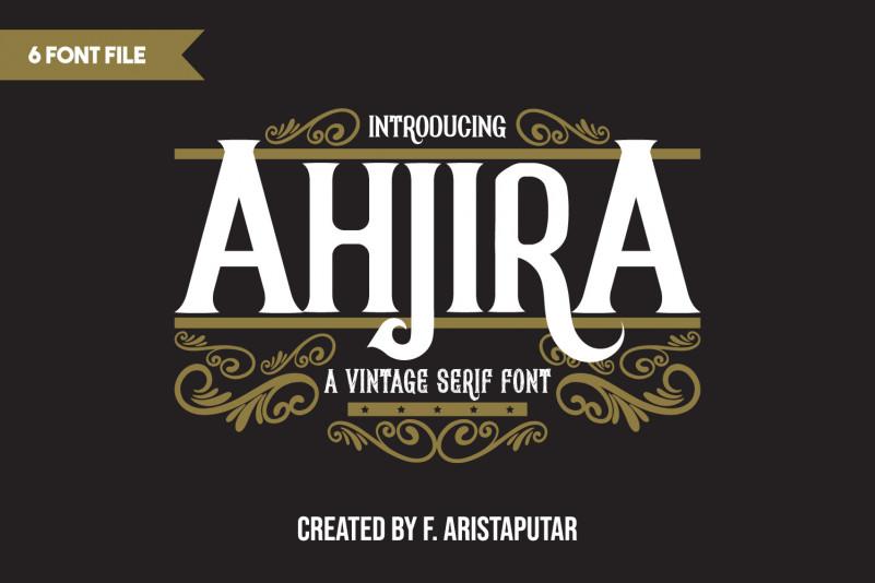 Ahjira Display Font