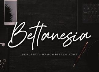Bettanesia Handwritten Font