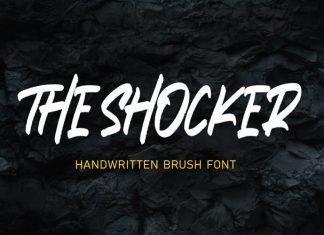 THE SHOCKER Brush Font