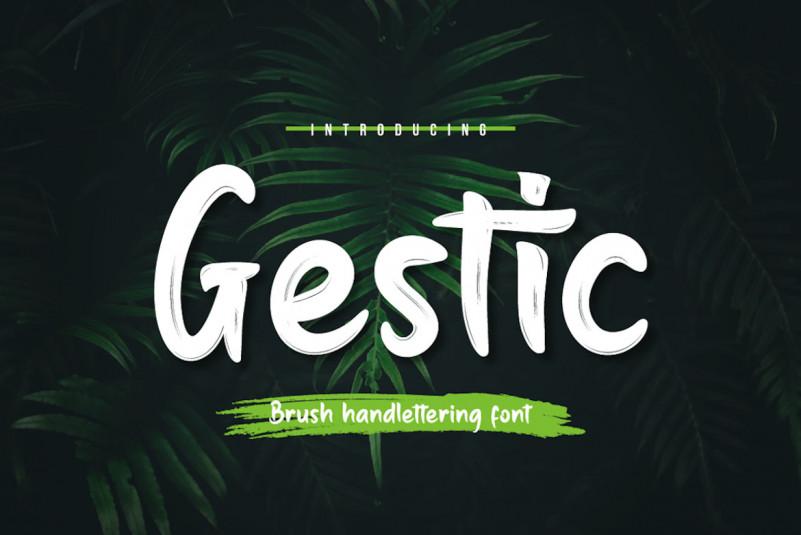 Gestic Brush Font