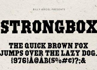 STRONGBOX Display Font