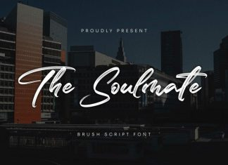 The Soulmate Brush Font