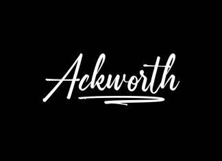 Ackworth Calligraphy Font