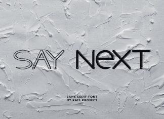 Say Next Sans Serif Font