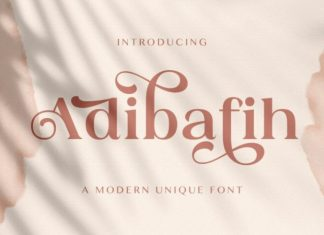 Adibafih Serif Font
