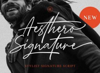Aesthero Handwritten Font