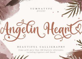Angelin Heart Calligraphy Font
