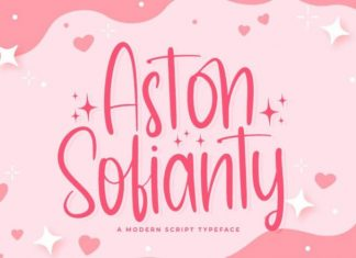 Aston Sofianty Script Font
