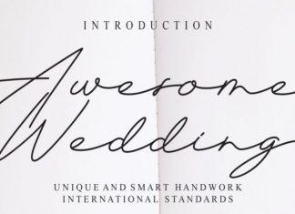 Awesome Wedding Font