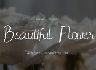 Beautiful Flower Script Font