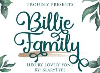 Billie Family Calligraphy Font
