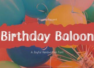 Birthday Baloon Display Font