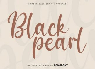 Black Pearls Script Font