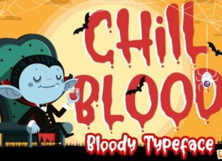 Chill Blood Display Font