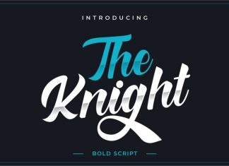 The Knight Script Font