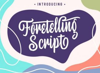 Foretelling Script Font