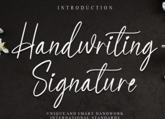 Handwriting Signature Font