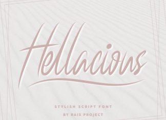 Hellacious Script Font