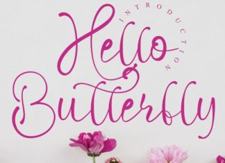 Hello Butterfly Font