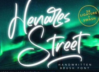 Henares Street Script Font