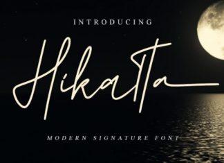 Hikatta Script Font