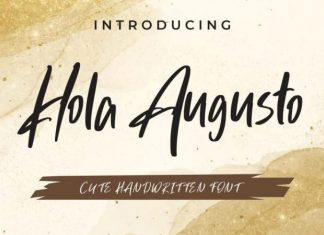 Hola Augusto Script Font