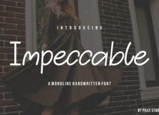 Impeccable Handwritten Font