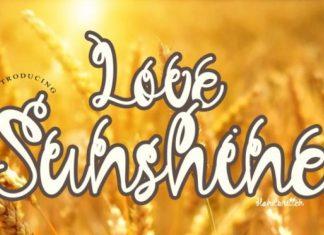 Love Sunshine Script Font