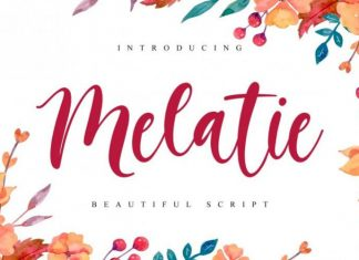 Melatie Script Font