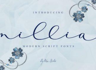Millia Calligraphy Font