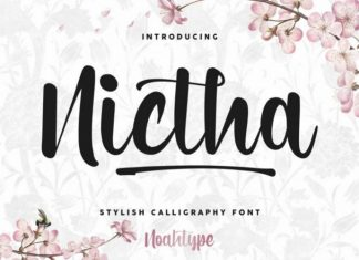 Nictha Calligraphy Font