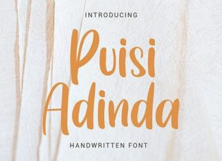 Puisi Adinda Script Font