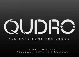 Qudro Display Font
