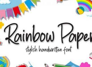 Rainbow Paper Handwritten Font