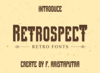 Retrospect Display Font