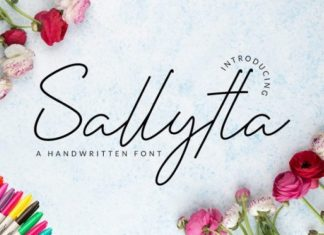 Sallytta Handwritten Font