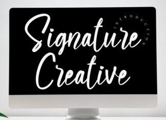 Signature Creative Font